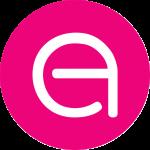Logo EA Exhibitions magenta branding
