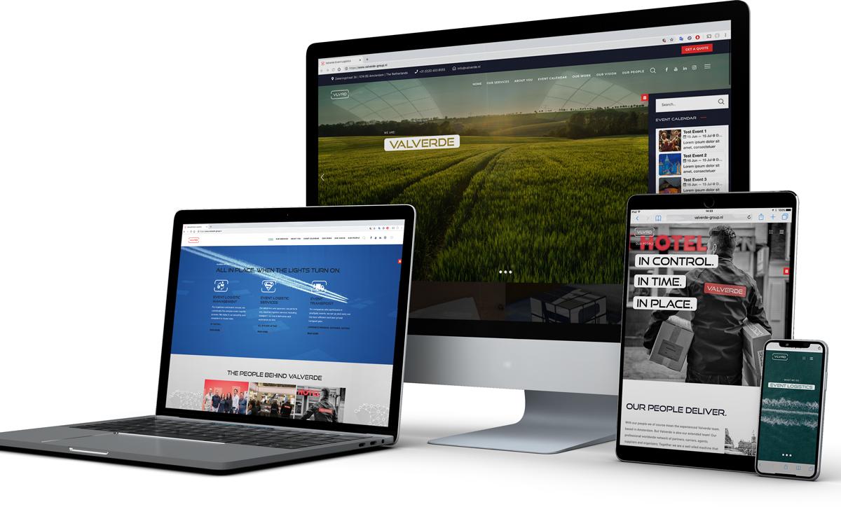 Valverde website cross platform compatible responsive branding
