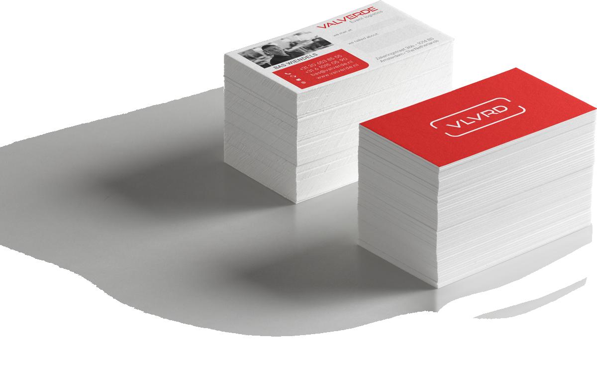 Valverde Event Logistics business cards branding