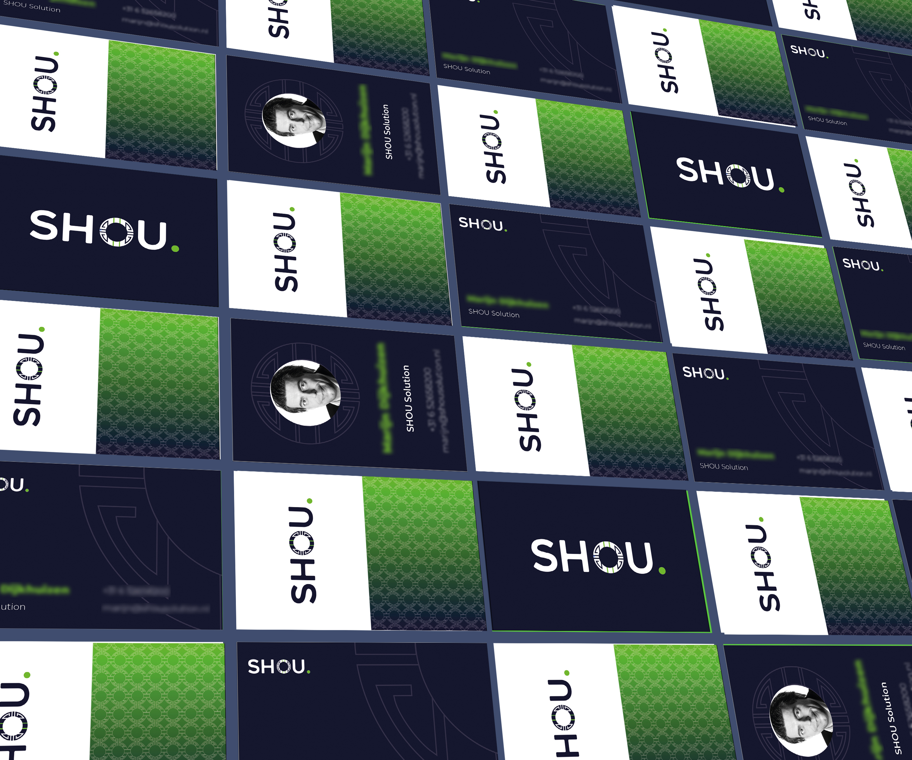 Shou business cards branding