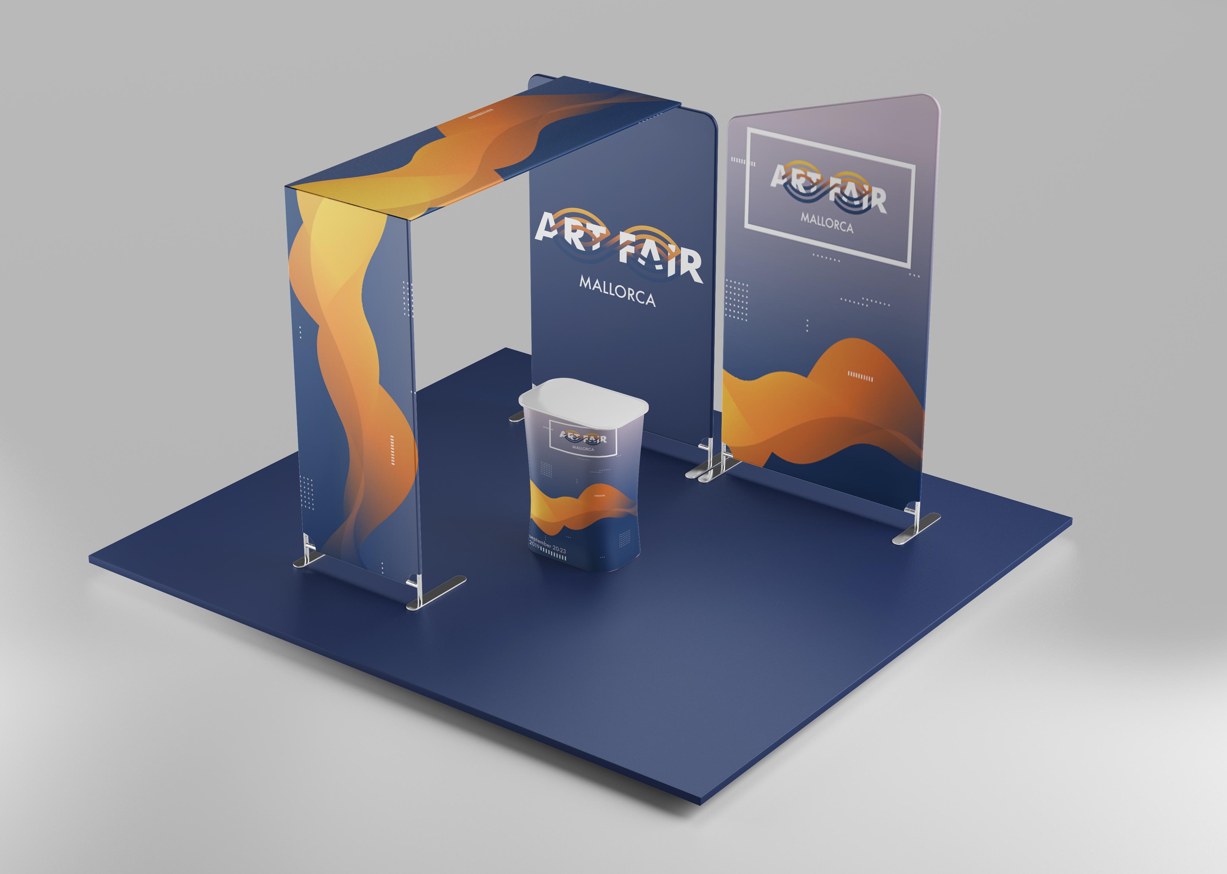 Art Fair Mallorca stand branding