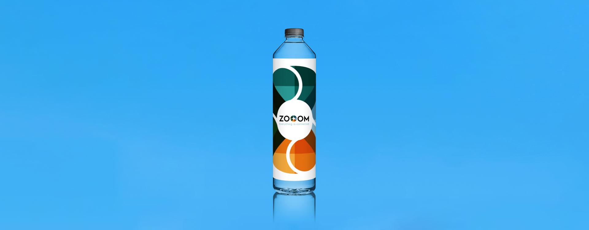 Event branding ZOOOM festival water bottle